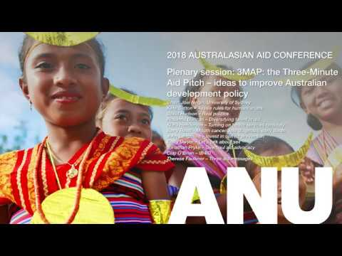 2018 Australasian Aid Conference — 3MAP: the Three-Minute Aid Pitch