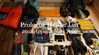 2018 Appalachian Trail Gear List