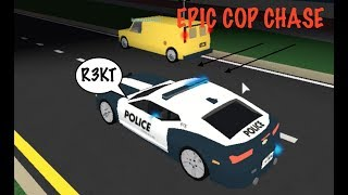 EPIC COP CHASE! - Roblox Ultimate driving Westover Islands.