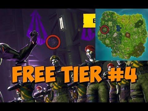 WEEK 4 Secret Battle Pass Tier Location (Free 10 Stars) Blockbuster Challenge | Fortnite