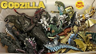 New Giant Box Of Godzilla Surprise Toys 50 Gallon Action Figures vs Jurassic Park Unboxing WD Toys