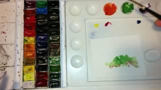 Yeni Başlayanlar için Suluboya - Renk Bilgisi Renk Karışımları #2