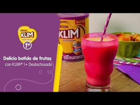 Batido de frutas con Alimento Lácteo KLIM® 1+ Deslactosado.