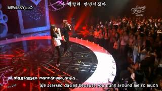 Davichi - Love & War LIVE [engsub+kara]