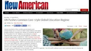 UN Pushes Common Core style Global Education Regime