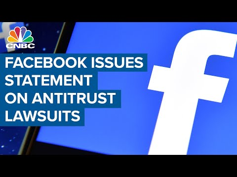 Facebook issues statement on antitrust lawsuits
