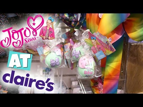 JoJo SiWA SQUiSHY SQUEEZE TOYS AT CLAiRE'S + SO MANY NEW SQUiSHiES! SHOPPiNG VLOG