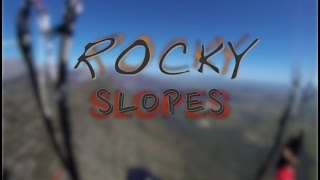 Rocky Slopes - Paragliding In Spring In South Africa