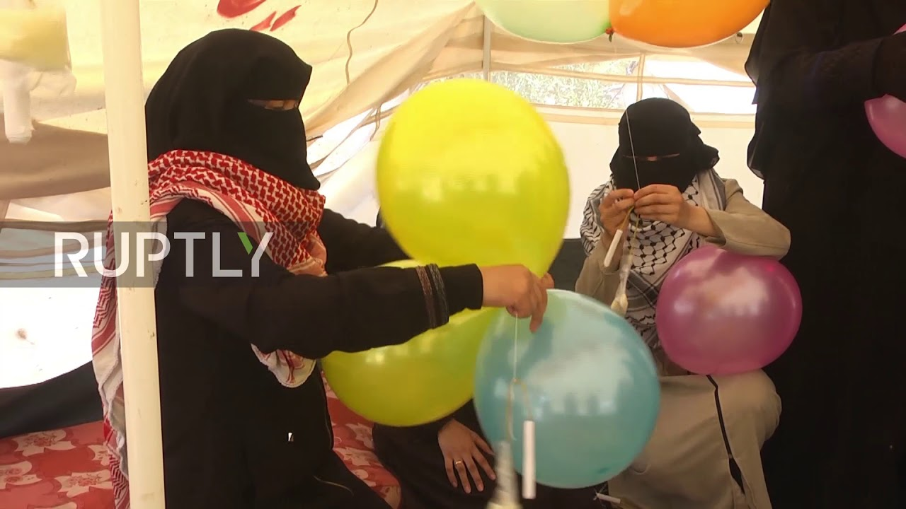 State of Palestine: 'Al-Zawari Girls' launch incendiary balloons to Israel