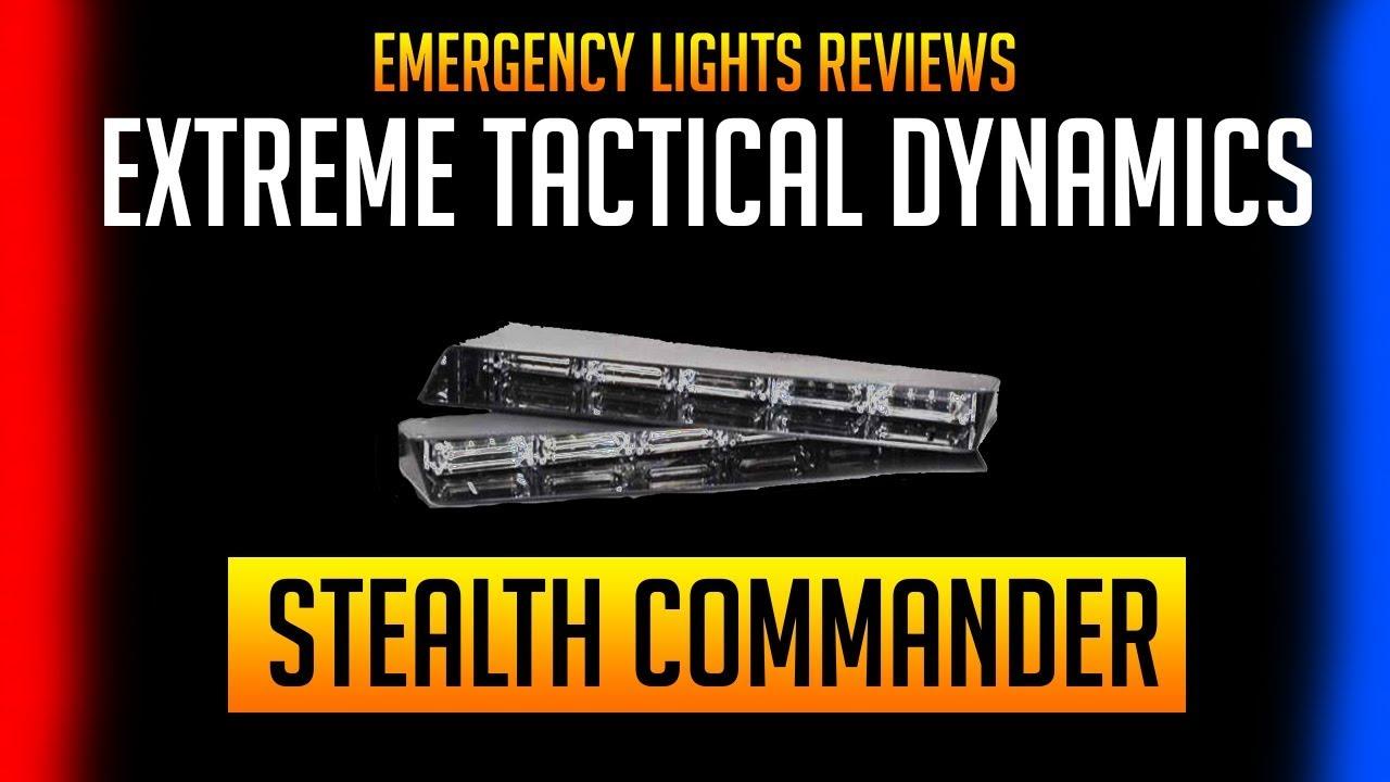 Elr Stealth Commander 9 Linear Led Visor Light Bar Emergency Lights Reviews