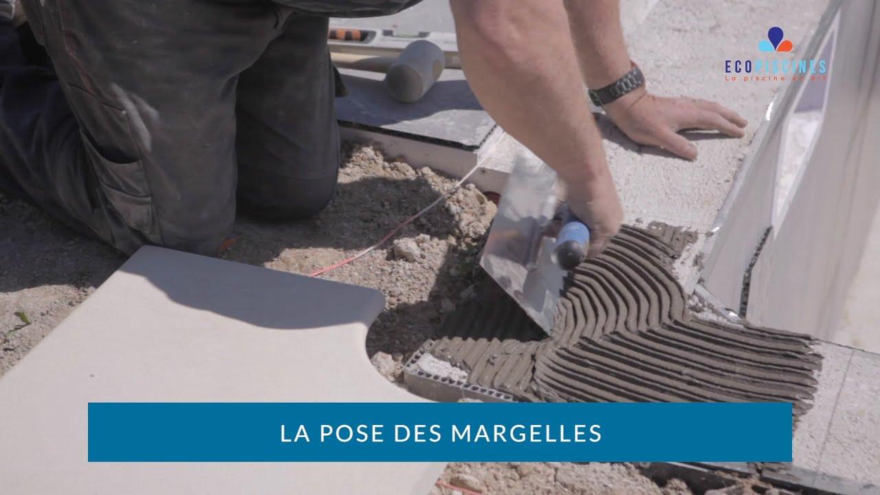 EcoPiscines   La Pose Des Margelles. Eco Piscines