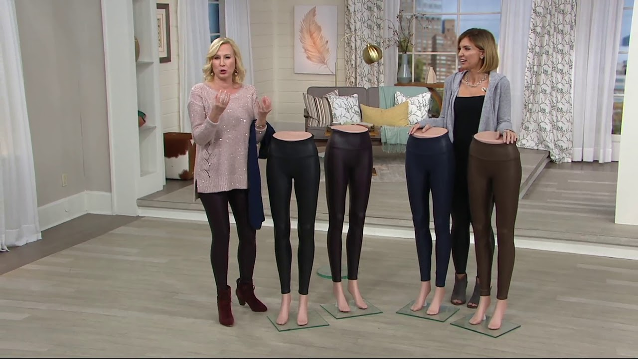 6fd13f334b413 Spanx Faux Leather Leggings on QVC - YouTube