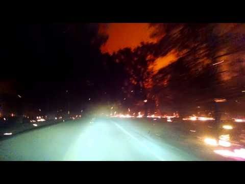 Surreal Video: Heading toward Middletown on through Valley Fire (9/13/2015)