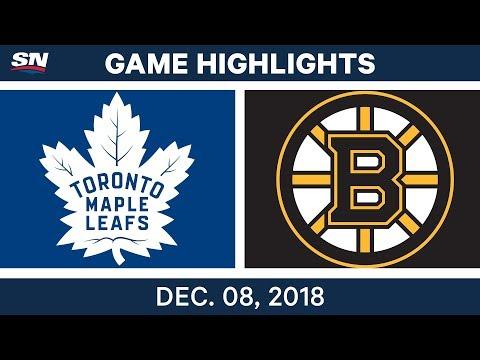 NHL Highlights | Maple Leafs vs. Bruins - Dec 8, 2018