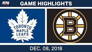 NHL Highlights | Maple Leafs vs. Bruins - Dec 8, 2018