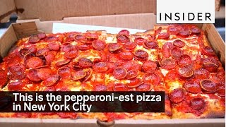 This is the pepperoni-est pizza in New York City