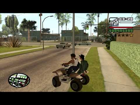 Hidden Dialog riding a Quadbike - GTA San Andreas - Cleaning the Hood - Sweet mission 2