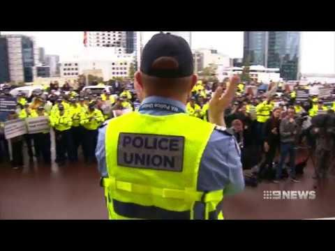Police Rally | 9 News Perth