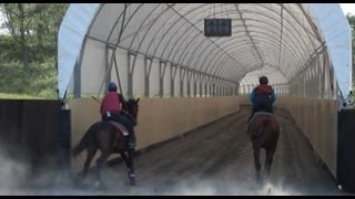 Tasco Dome - 900 Meter Long Horse Training Track at Shirai Farm in Japan