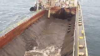 Split Hopper Barge Tiger - Discharging at sea