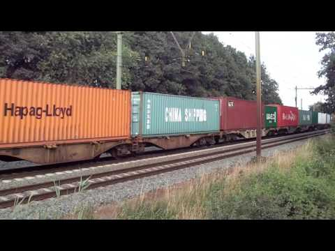 Neelevat, Hapag-Lloyd, Hamburg Sud and more Containers! Container Train!!