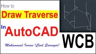 How to Draw Traverse at Deg/Min/Sec Method in AutoCAD