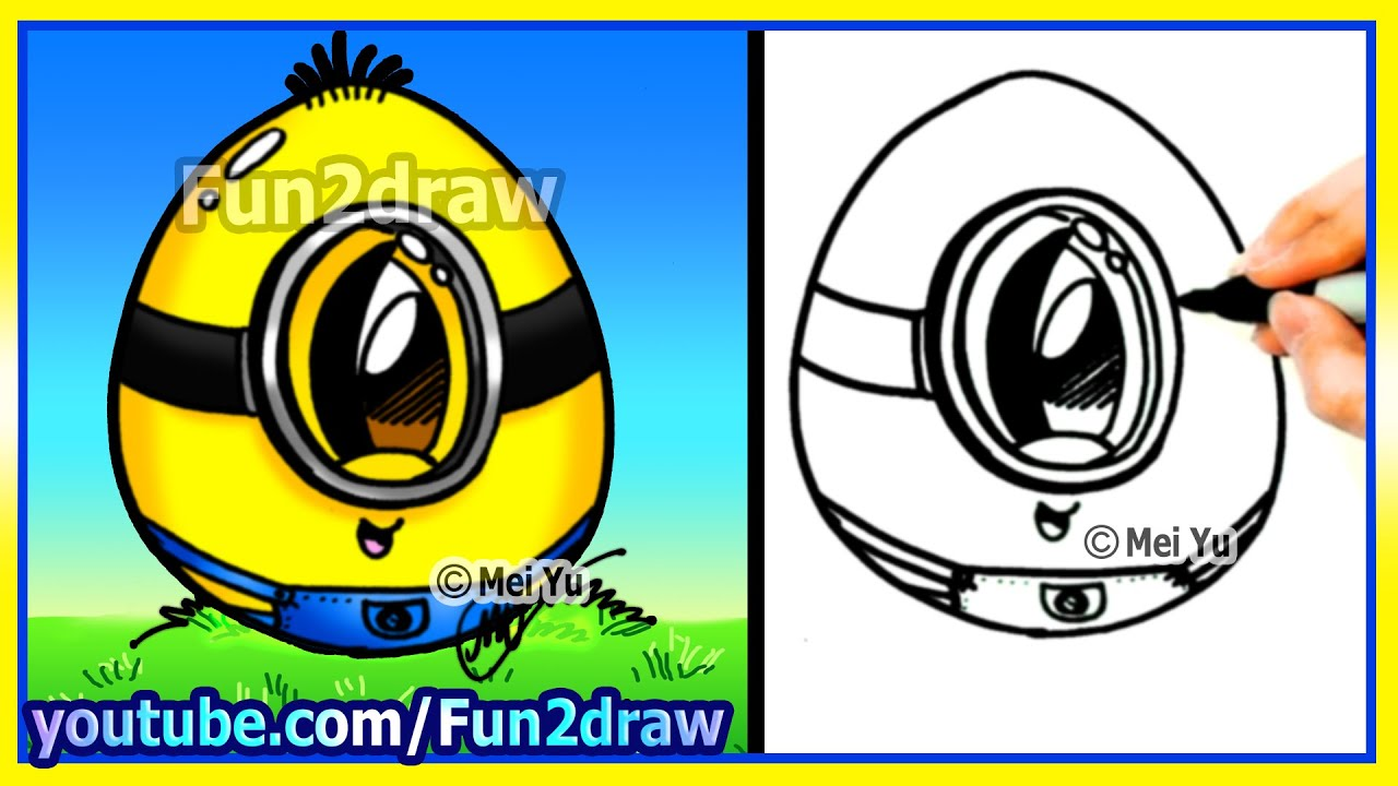 How to draw a minion egg fun2draw youtube for Fun and easy pictures to draw