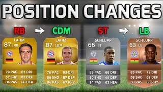 FIFA 15 - POSITION CHANGES!!! - Squad Of Players Who Changed Positions