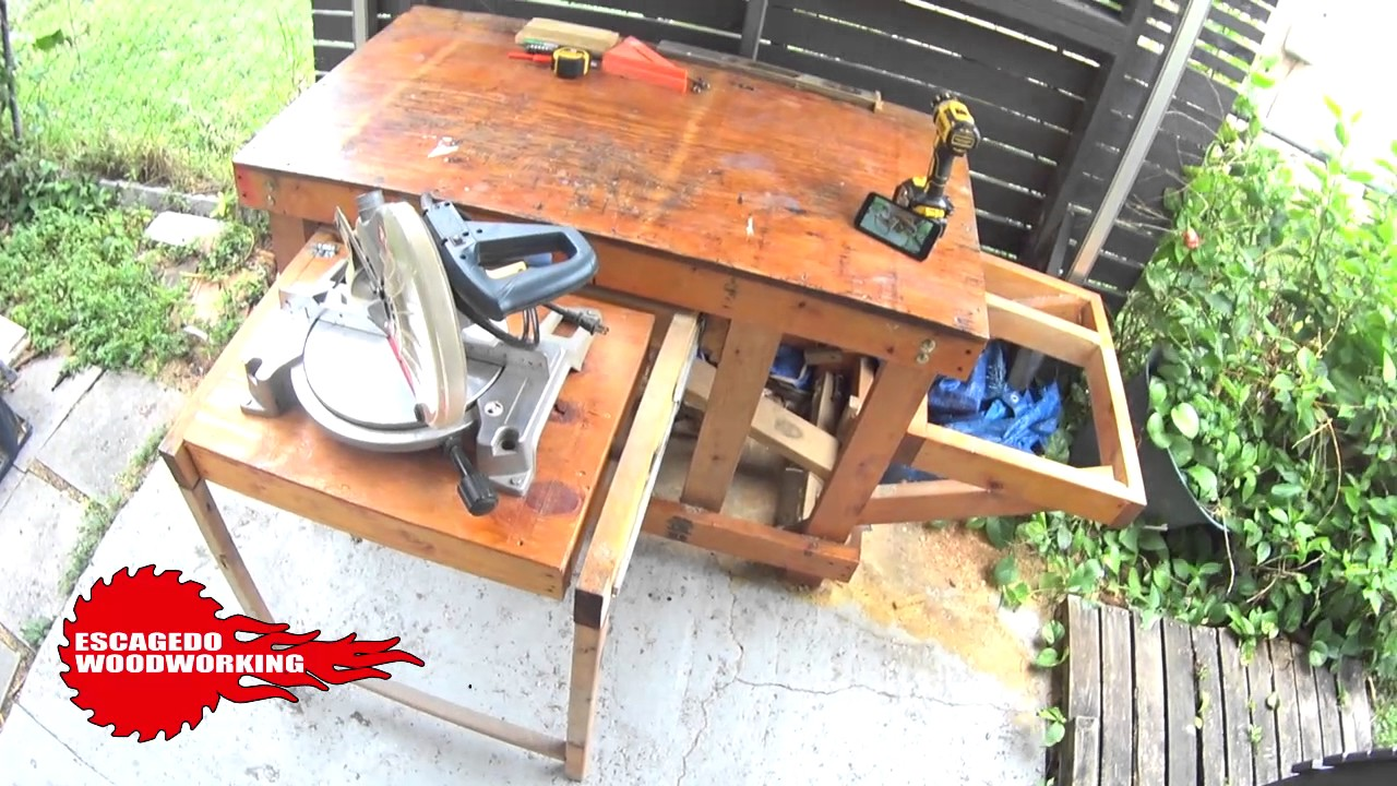 Outdoor Workbench / Pull Out Flip Top Miter Station