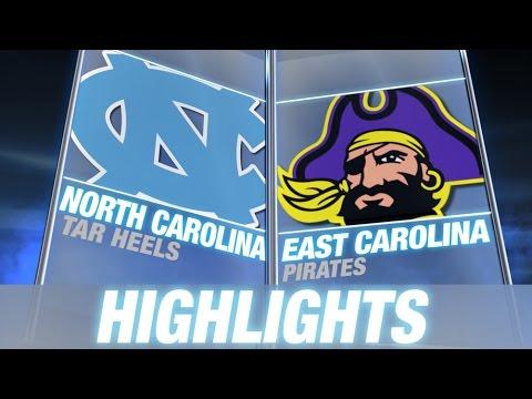 North Carolina vs East Carolina   2014 ACC Football Highlights