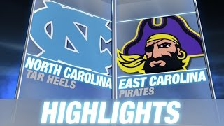 North Carolina vs East Carolina | 2014 ACC Football Highlights