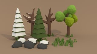 | PigArt | BLENDER Tutorial: Low poly forest assets! thumbnail