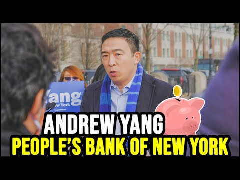 """Andrew Yang Announces """"People's Bank of New York""""   Full Press Conference"""