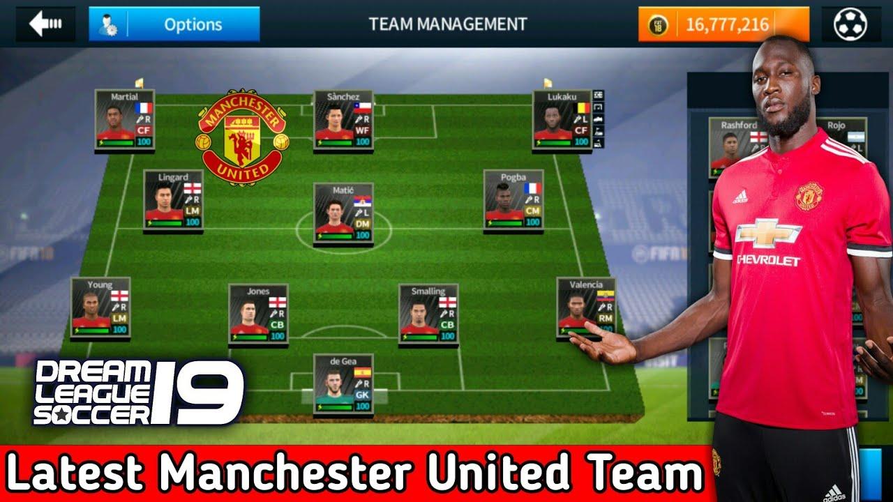 buy popular e6ddd f044b Create Manchester United Team ★ Kits Logo & Players ★ Dream League Soccer  2018