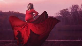 How to Create an Epic Flowing Red Dress Effect in Photoshop CC  | Educational