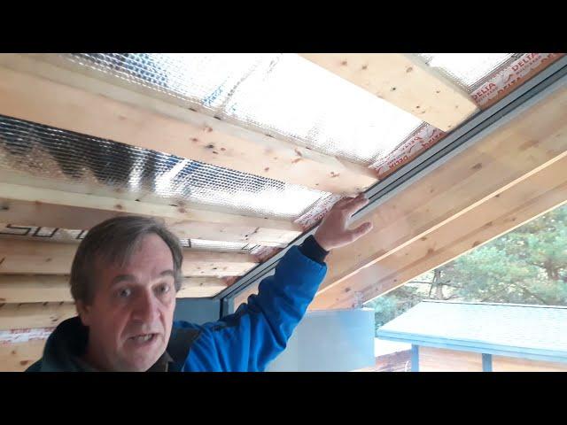Примыкание  потолка  к  стеклопакету  в  фахверковом  доме,  типичная  ошибка.