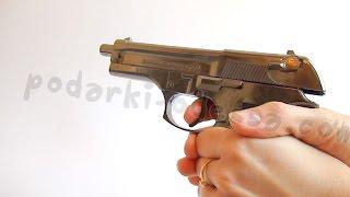 Зажигалка пистолет Беретта (Видео обзор) podarki-odessa.com