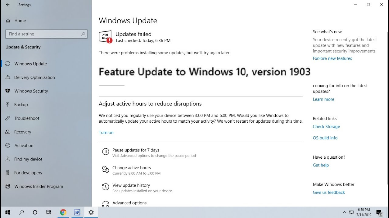 How to Fix Windows 10 Update Errors & Issues 2019