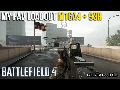 Battlefield 4 (PS4) - My Favourite Loadout - M16A4 + 93R (Unedited Gameplay)