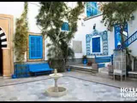 Tunisie maisons et chambres d 39 h tes youtube for Maison prefabriquee tunisie