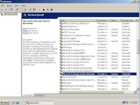 Exchange Server 2003 installation on windows server 2003  (Restart these Services) part 5