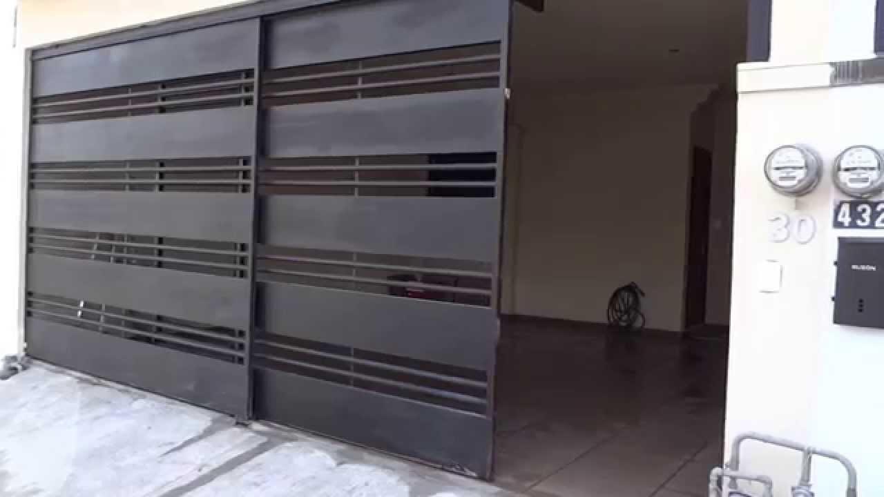 Portones contemporaneos en monterrey youtube for Puertas metalicas precios