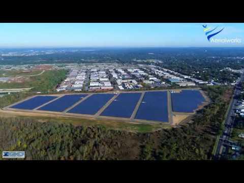 Drone Shot of a Solar Farm
