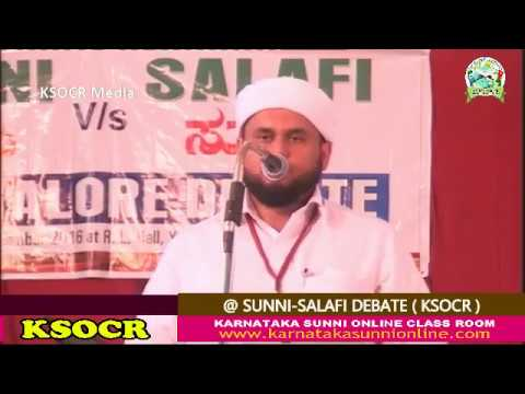 SUNNI-SALAFI DEBATE-@ MANGALORE 10-12-2016 Part 1