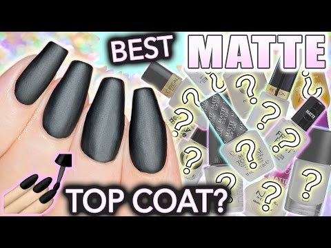 Best MATTE top coat for nails?!