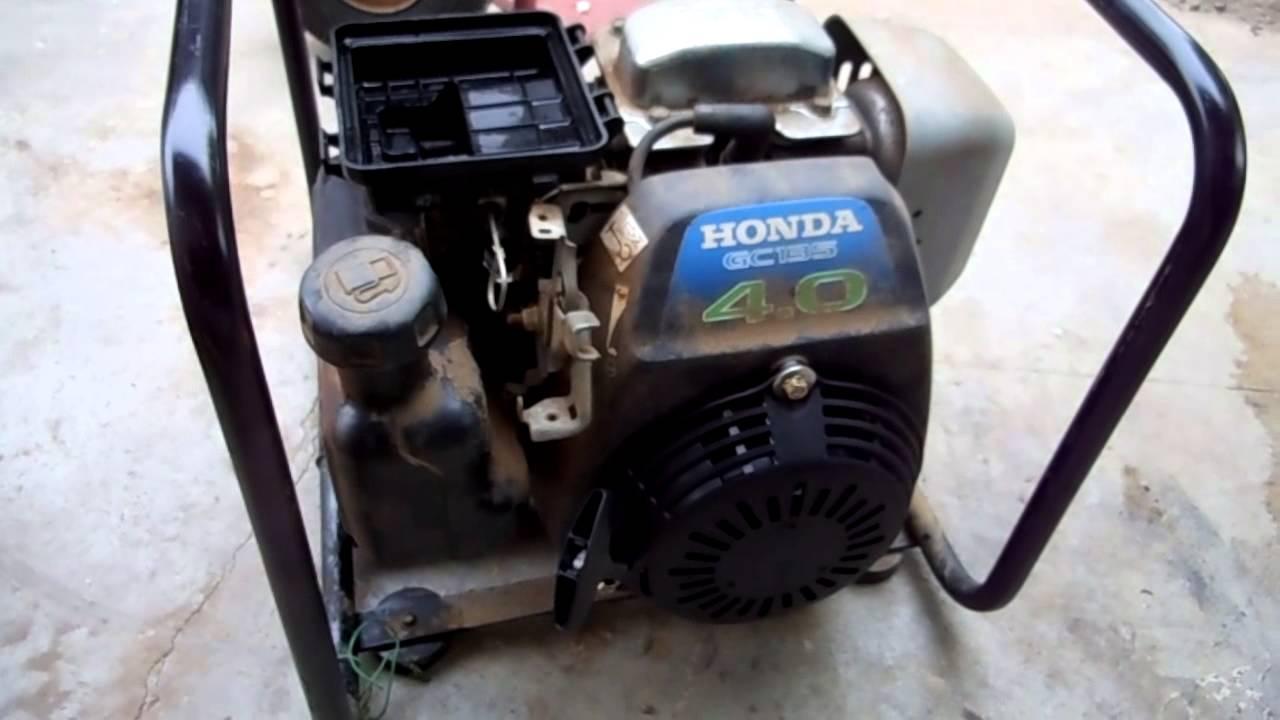 HONDA GC135 repair - YouTube
