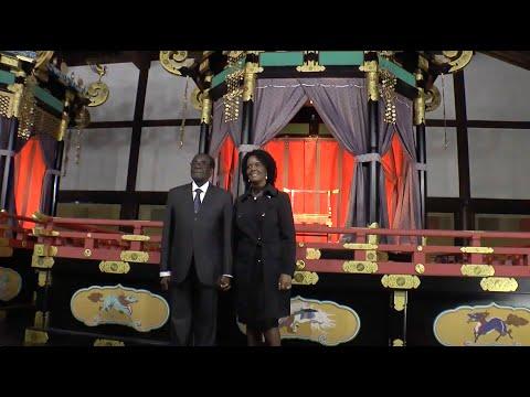 President Of The Republic Of Zimbabwe Visits Kyoto