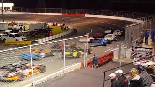 Ace speedway start of modified race and first caution 9/8/17