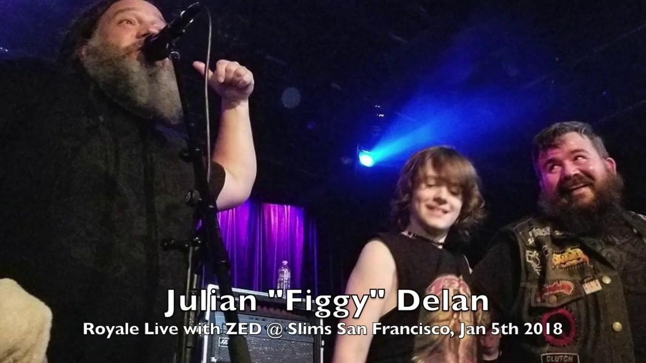 """ZED - Royale - 11 yr old Julian """"Figgy"""" Delan live w/ZED @ Slims  in San Francisco 1-5-18"""