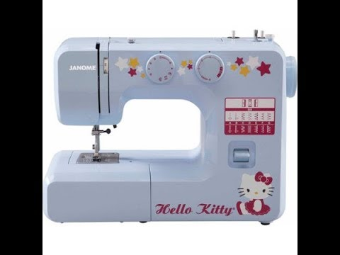 Hello Kitty Sewing Machine Review YouTube Enchanting Janome Hello Kitty Sewing Machine